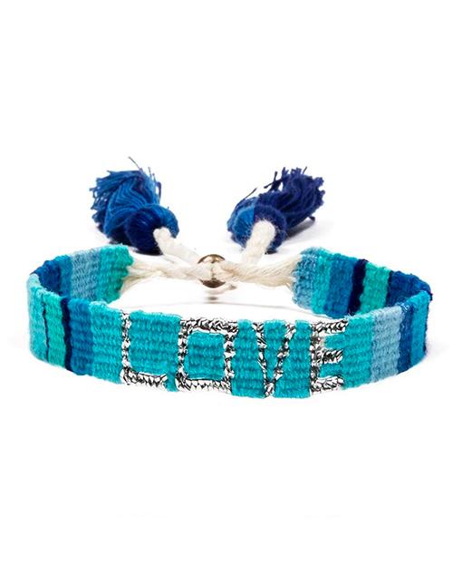 Atitlan LOVE Bracelet - Blue & Turquoise