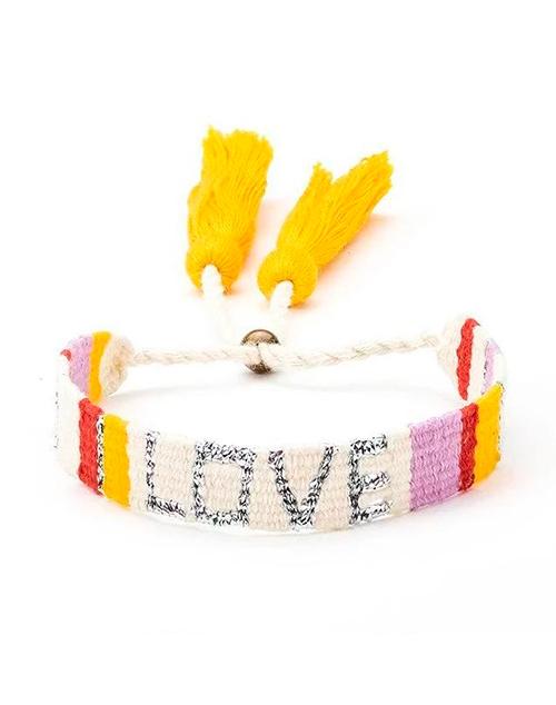 Atitlan LOVE Bracelet - White & Red