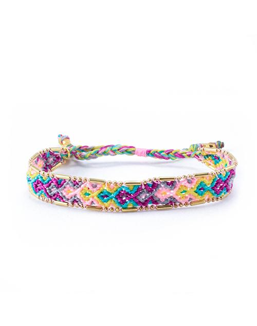 Bali Friendship Bracelet- Bloom Violet