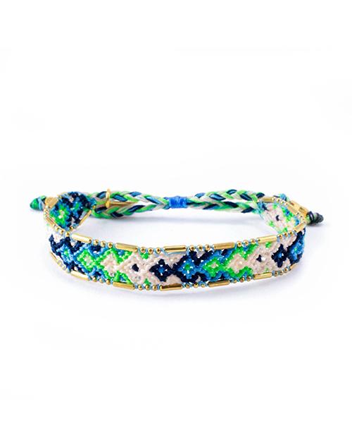 Bali Friendship Bracelet- Lagoon Emerald