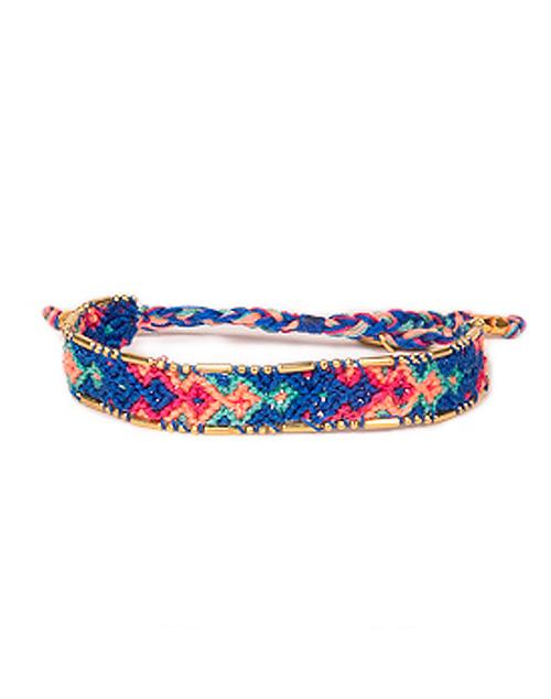 Bali Friendship Bracelet- Royal Blue & Pink