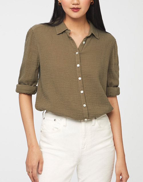 James Solid Button Down Shirt