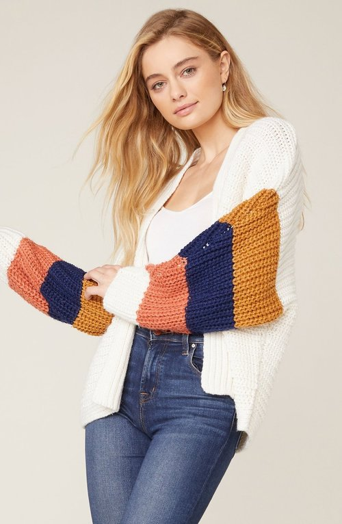 Block & Roll Colorblock Cardigan