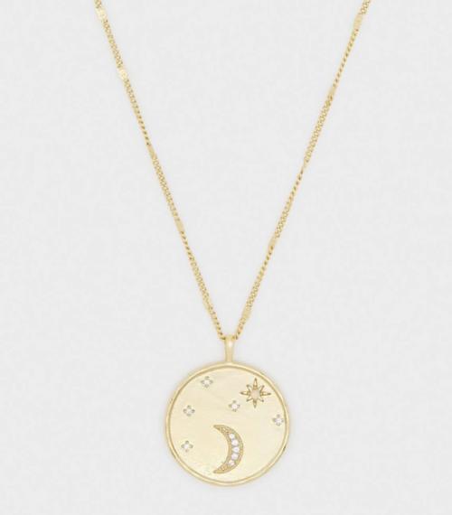 Luna Coin Pendant Necklace