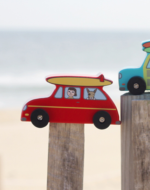 Surfs Up Mini Roller Cars - Red