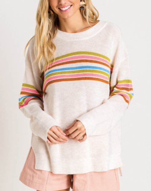 Beach Babe Multi Stripe Sweater