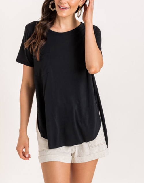The Coveted Basic Pocket T Shirt