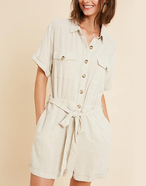 Bohemian Button Down Romper