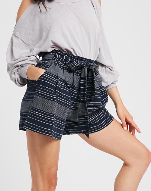 Dune Stripe Belted Shorts