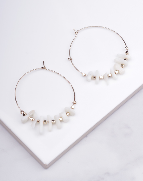 White Natural Stone Hoop
