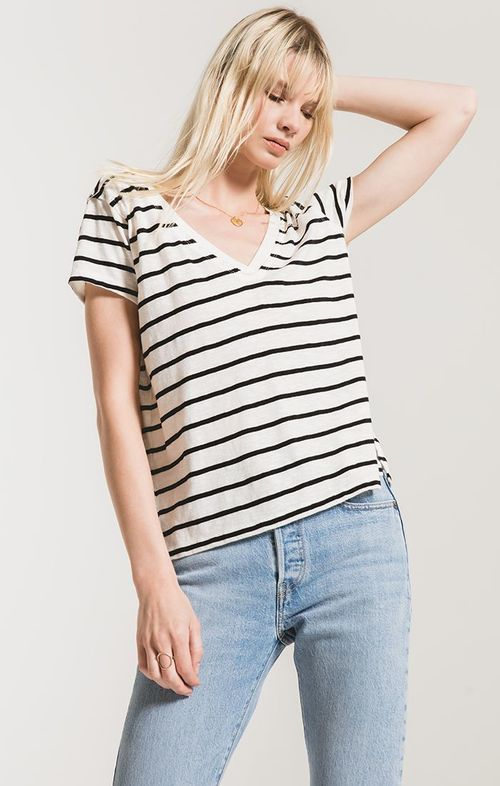 The Desert Stripe V Neck Tee