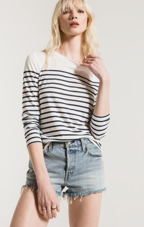 The Fiore Stripe Long Sleeve Top