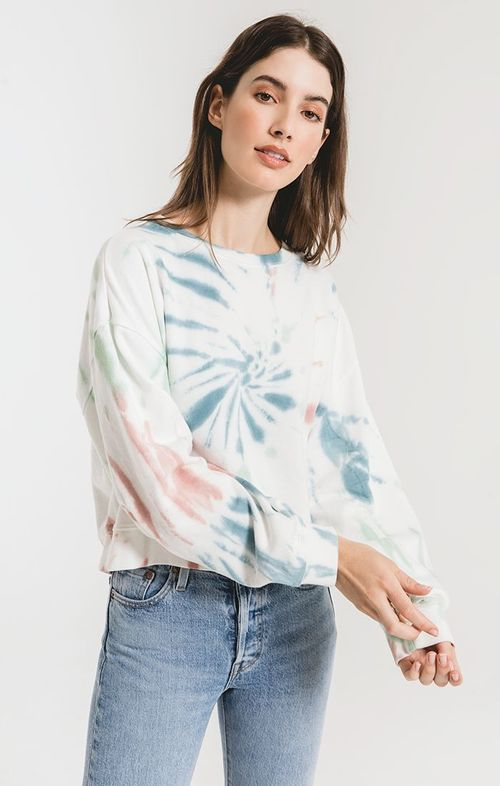 The Multi Color Tie Dye Pullover