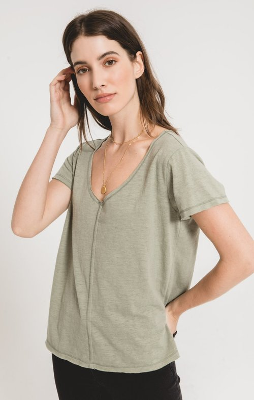 The Light Sage Airy Slub Chaparral Tee