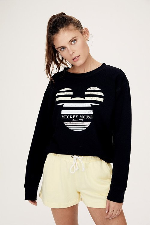 Stripe Mickey Crew