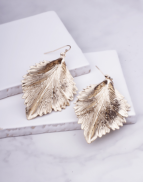 Large Gold Leaf Dangle