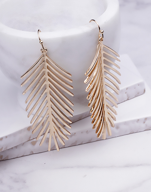 Gold Palm Dangle