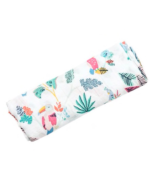 Tropical Birds Swaddle