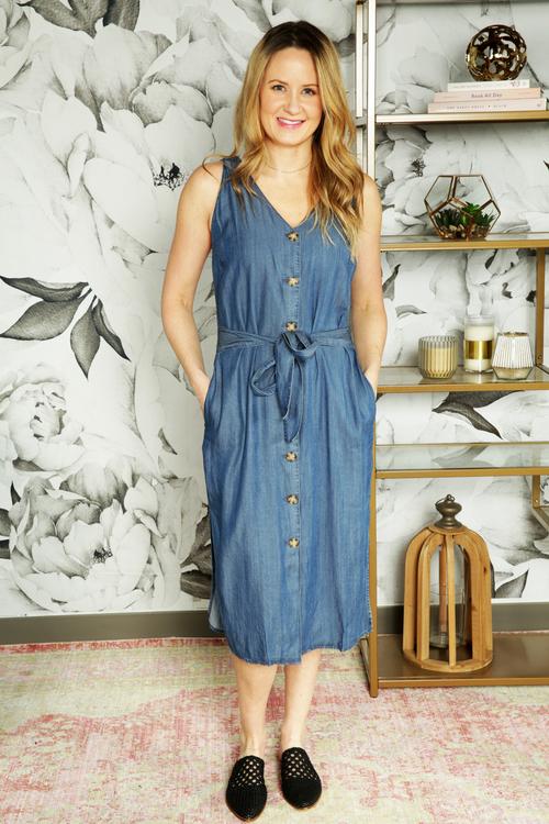 Yelena Tie Waist Dress