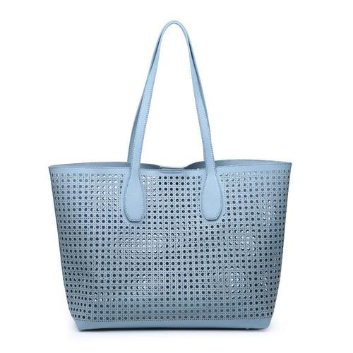 Brazil Eggshell Blue Perforated Pattern Tote