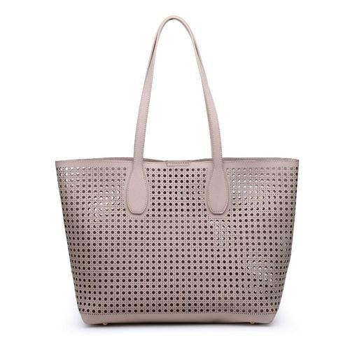 Brazil Nude Perforated Pattern Tote