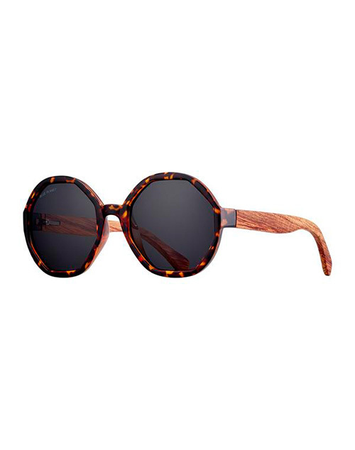 Donna Tort/Wood/ Smoke Polarazied Sunglasses