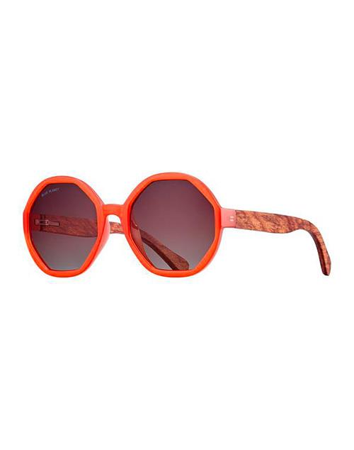 Donna Orange/Wood/ Gradient Polarazied Sunglasses
