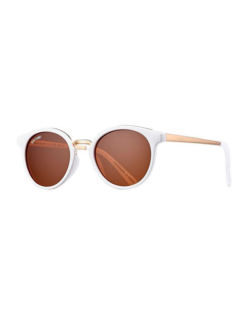 Lucca White/Gold/Gradient Brown Polarized Sunglasses