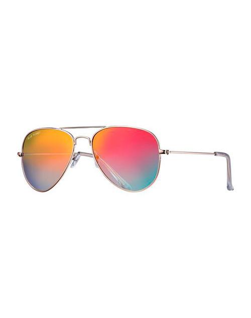 Wright II Gold/Gradient Pink Blue Polarized Sunglasses