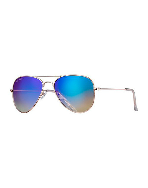 Wright II Gold/Gradient Blue Brown Polarized Sunglasses
