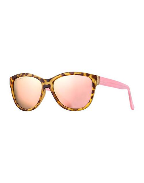 Jordyn Gold Tort/Rose/Pink Mirror Polarized Sunglasses