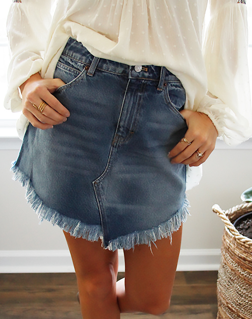 Bailey Denim Mini Skirt
