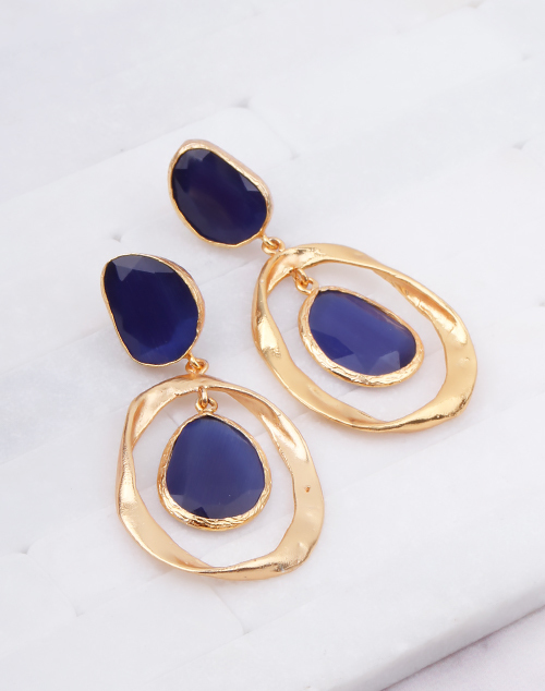 Twist Navy Stone Dangle