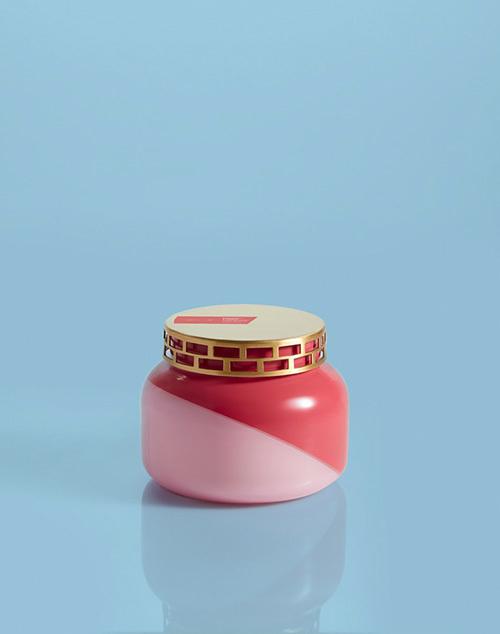 Signature Dual Tone Pineapple Flower Jar Candle