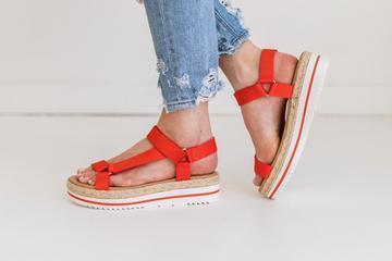 Destiny Woven Platform Sandal