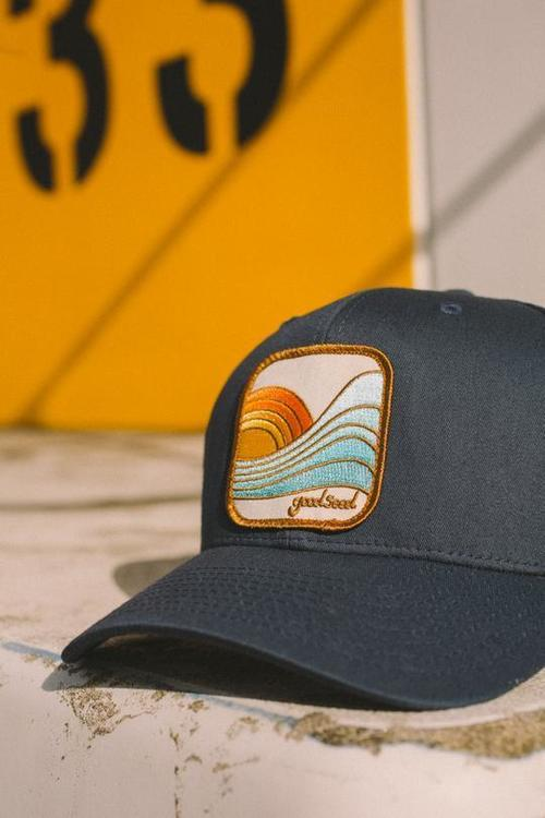 Last Wave Trucker Hat Navy