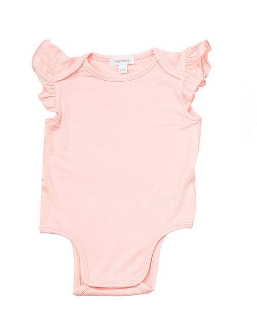 Basics Pink Ruffle Sleeve Onesie