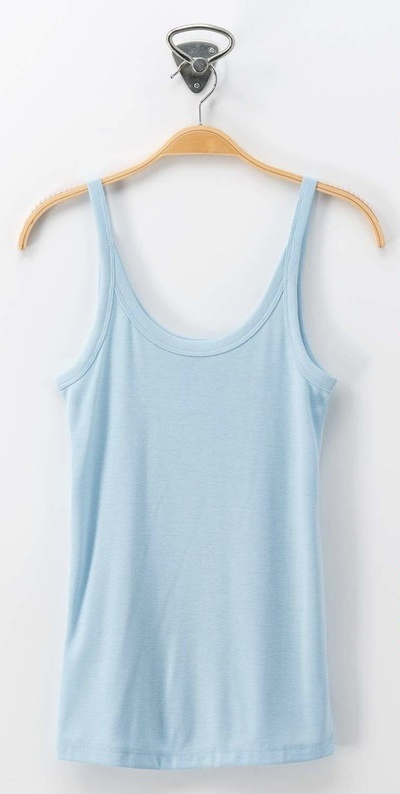 Blue Dream Scoop Neck Basic Sleeveless Top