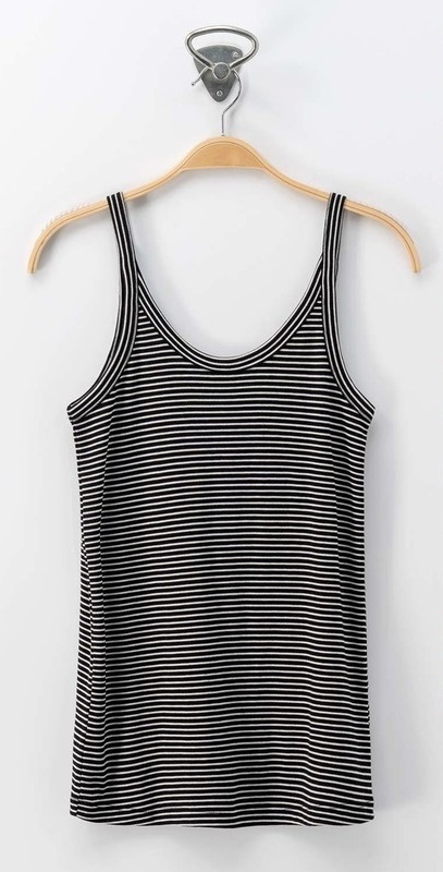 Black Scoop Neck Basic Sleeveless Top