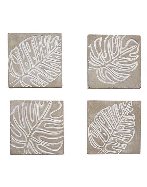 Concrete Monstera Leaf Coasters