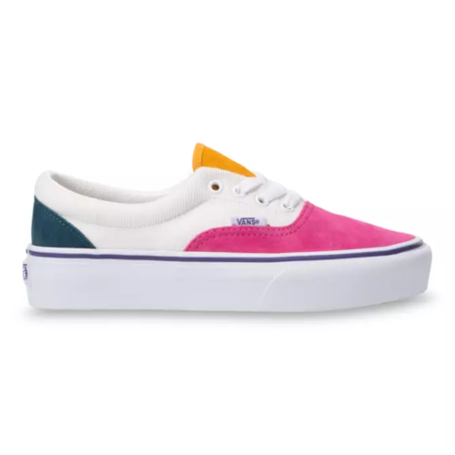 Vans UA Era Platform (Mini Cord) Multi/True White