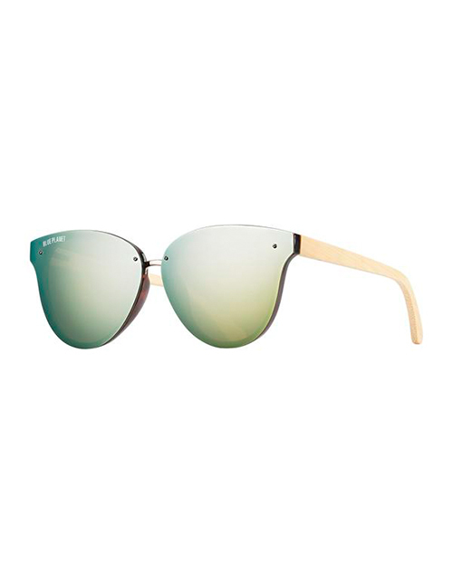 Nory Clear/Gold Mirror Brown Sunglasses