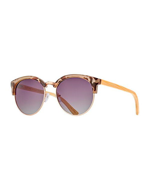 Marin Ivry Tort/Gold/Gardient Smoke Polarized Sunglasses