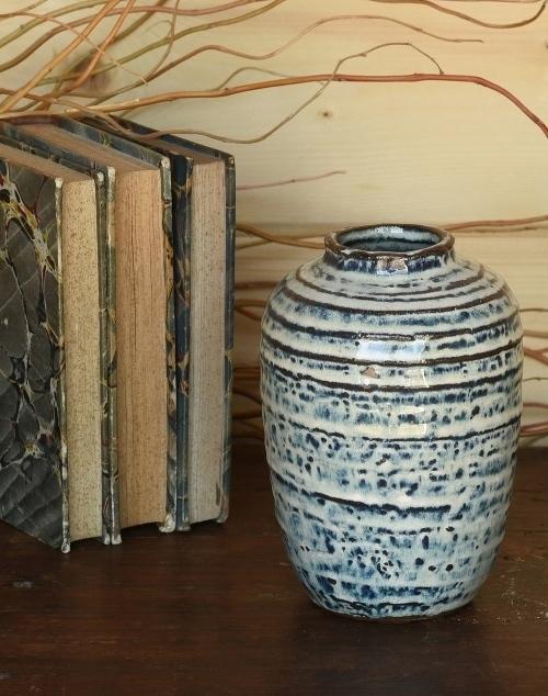 Toku Vase Ceramic - Indigo