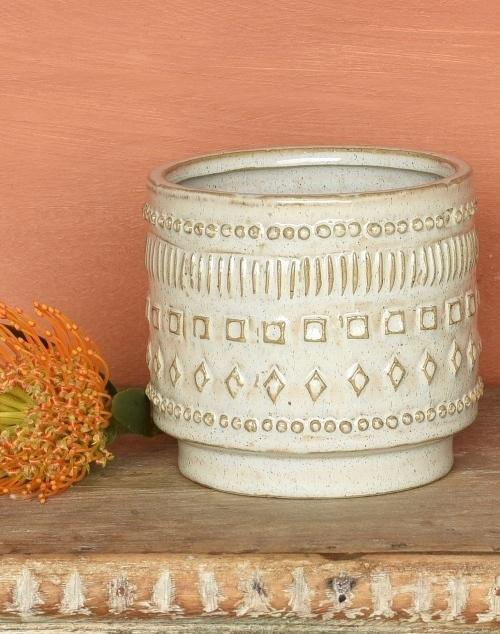 Peru Cachepot Ceramic Small - White
