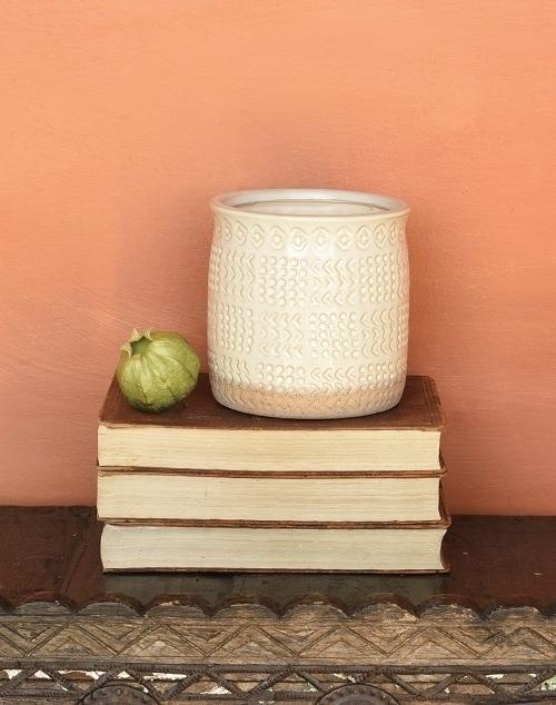 Cheyenne Cachepot Ceramic - White