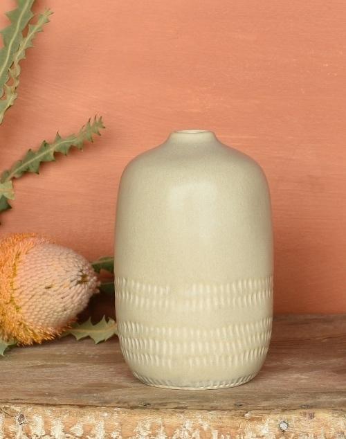 Marin Vase Ceramic - Light Beige