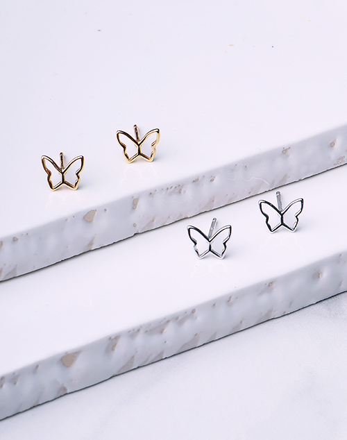 Open Tiny Butterfly Stud