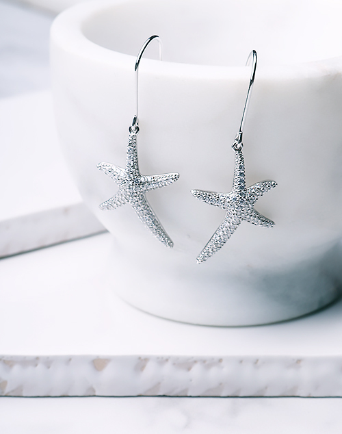 CZ Medium Fancy Starfish Dangle