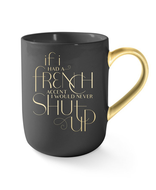 French Accent Mug Grey